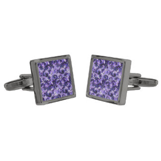 Pattern Factory 23 putple Gunmetal Finish Cufflinks
