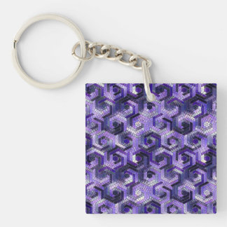 Pattern Factory 23 putple Key Ring