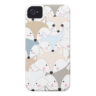 Pattern foxy comic cartoon iPhone 4 cover