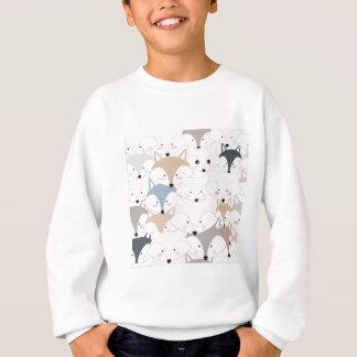 Pattern foxy comic cartoon sweatshirt