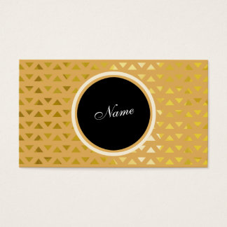 Pattern Gold Business Card