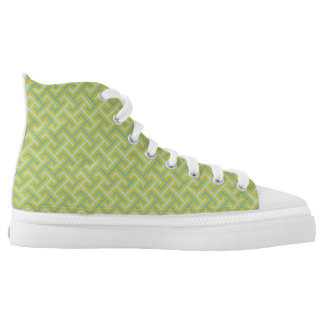 Pattern green printed shoes