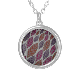Pattern H Silver Plated Necklace