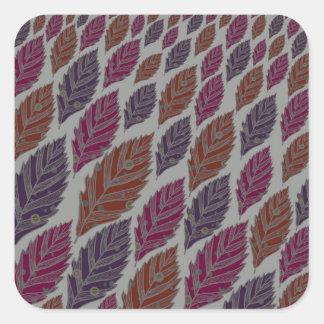 Pattern H Square Sticker