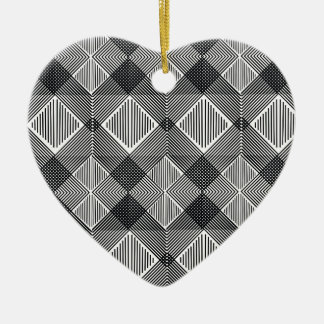 pattern I Ceramic Ornament