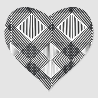 pattern I Heart Sticker