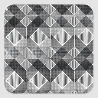 pattern I Square Sticker