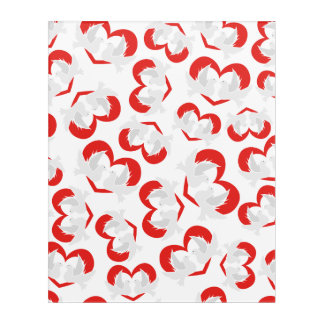 Pattern illustration peace doves with heart acrylic wall art