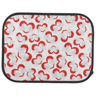 Pattern illustration peace doves with heart car mat