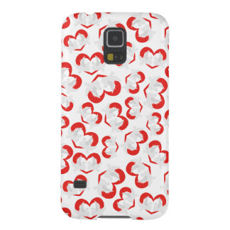 Pattern illustration peace doves with heart case for galaxy s5