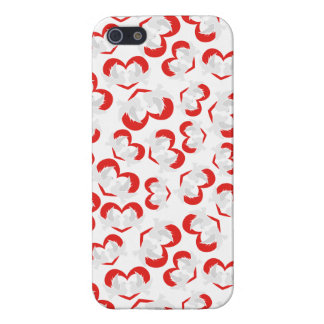 Pattern illustration peace doves with heart case for iPhone 5/5S