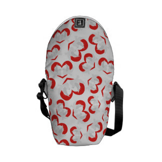 Pattern illustration peace doves with heart commuter bags