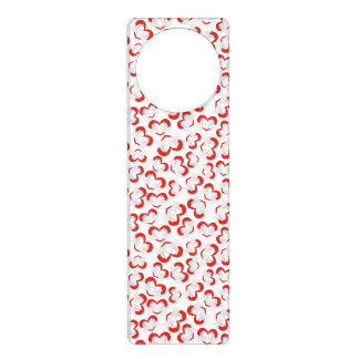 Pattern illustration peace doves with heart door hanger