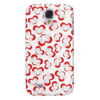 Pattern illustration peace doves with heart galaxy s4 case