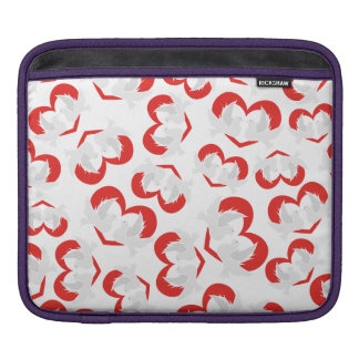 Pattern illustration peace doves with heart iPad sleeve