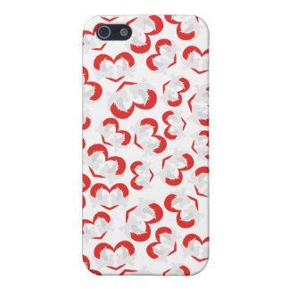 Pattern illustration peace doves with heart iPhone 5/5S cases