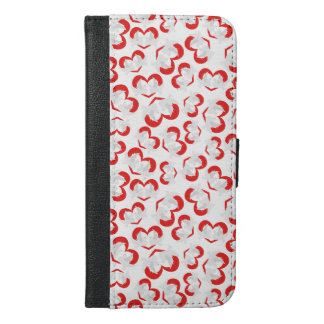Pattern illustration peace doves with heart iPhone 6/6s plus wallet case