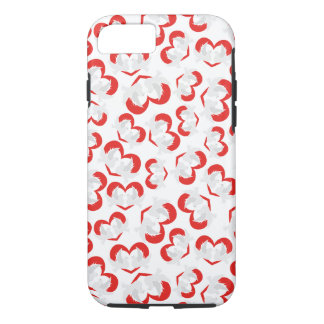Pattern illustration peace doves with heart iPhone 8/7 case