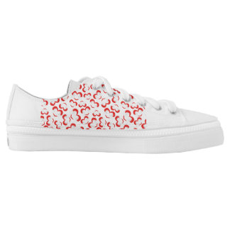 Pattern illustration peace doves with heart low tops