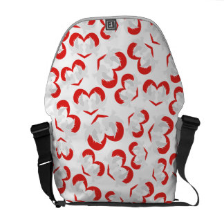 Pattern illustration peace doves with heart messenger bags