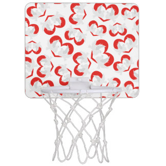 Pattern illustration peace doves with heart mini basketball hoop