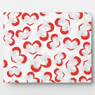 Pattern illustration peace doves with heart plaque
