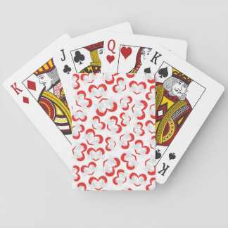 Pattern illustration peace doves with heart poker deck