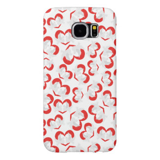 Pattern illustration peace doves with heart samsung galaxy s6 cases