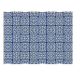 Pattern in Blue & White Postcard