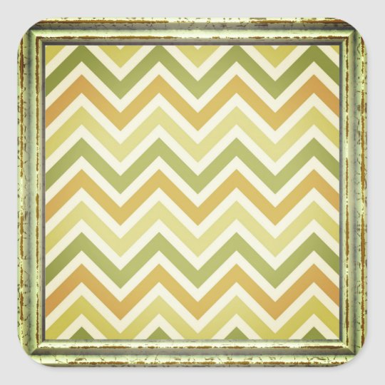 Pattern In Greens Square Sticker