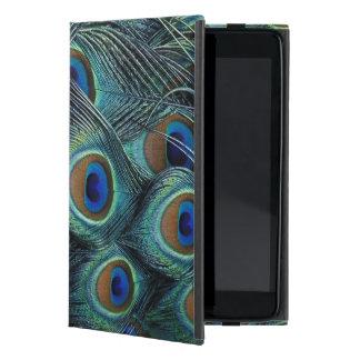 Pattern in male peacock feathers iPad mini case