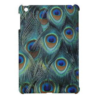 Pattern in male peacock feathers iPad mini cases