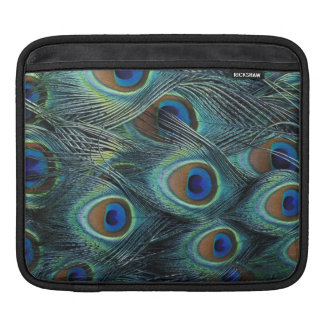 Pattern in male peacock feathers sleeves for iPads