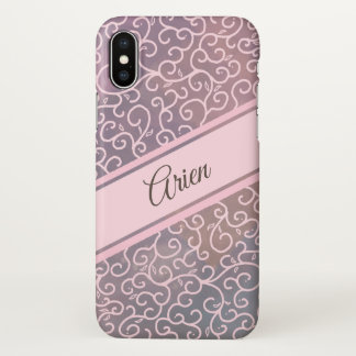 Pattern in Pink 2 iPhone X Case