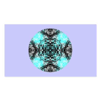 Pattern in Turquoise and Black, on Lilac Purple. Pack Of Standard Business Cards