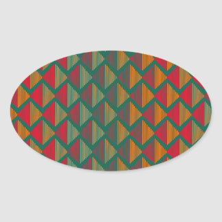 pattern K Oval Sticker