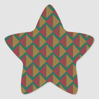 pattern K Star Sticker