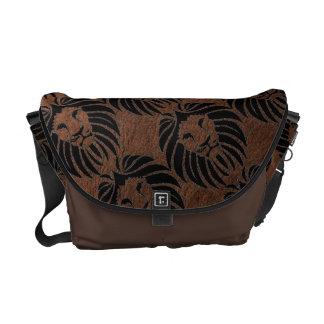 Pattern Lion Head Rickshaw Messenger bags