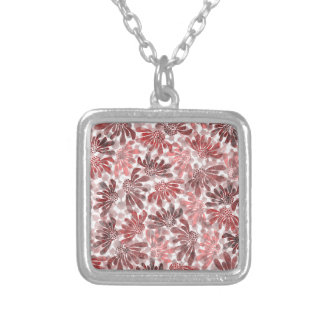 pattern M Silver Plated Necklace