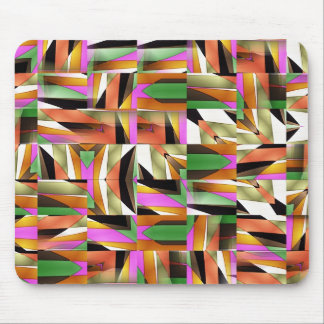 Pattern made of Abstract colour tiles Mouse Pad