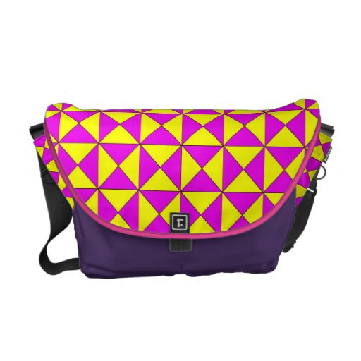 pattern messenger bag