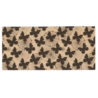 pattern of a butterfly wood USB 2.0 flash drive