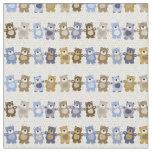 pattern of a toy teddy bear fabric