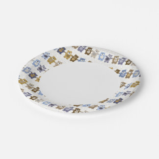 pattern of a toy teddy bear paper plate