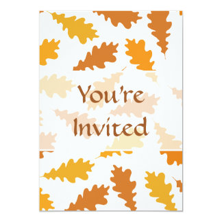 "Pattern of Autumn Leaves. 5"" X 7"" Invitation Card"