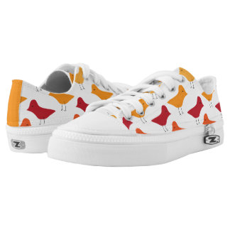 Pattern of Birds Printed Shoes