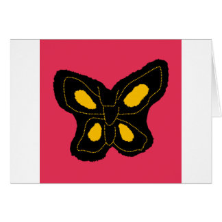 Pattern of butterfly made of cut paper greeting card