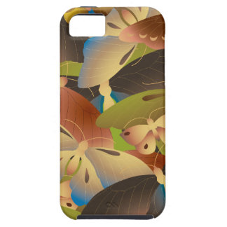 Pattern of colorful butterflies overlap a lot case for the iPhone 5