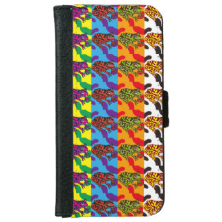 Pattern of colorful frog iPhone 6 wallet case
