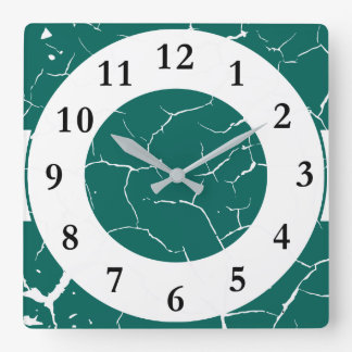 Pattern of cracks square wall clock